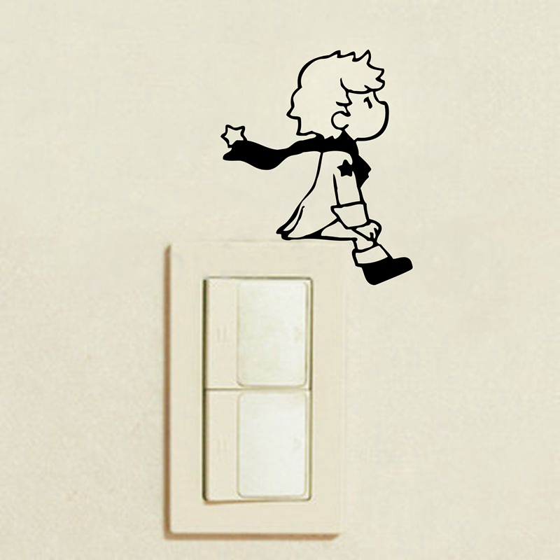 2pcs Prince Wall switch sticker for kids boy room wall decoration - Light Switch Sticker Prince
