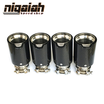 4PCS TOP quality Car Carbon Fiber Exhaust End Tips for BMW 2.5'' in, 3.5'' out free shipping