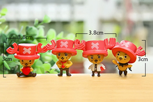 One Piece Tony Tony Chopper PVC Action Figure 4pcs 3cm
