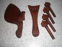 1 Satz Gepflegt Jujube Violine passend 4/4 mit endstück pegs endpin 02 #
