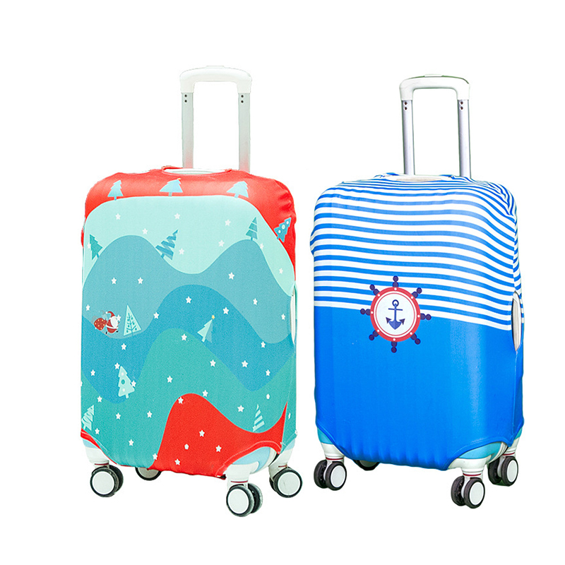 bagsmall cute protective suitcase cover travel on road stretch luggage cover trolley case luggage dust cover christmas tree - Cheap Christmas Trees Online