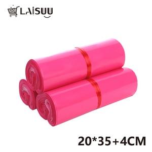 Image 5 - 100pcs 7.8*13.7inch/20*35cm Girl Pink Thick Waterproof Self Adhesive Bag poly envelope gift mailing bag