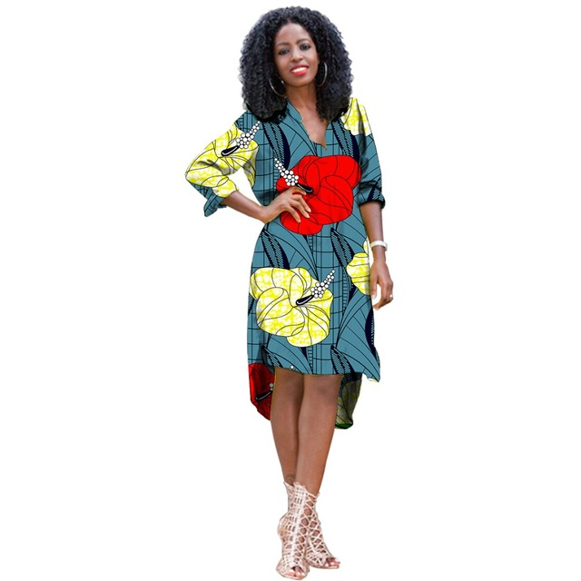 2a8b9f3203 African print dress three quarter sleeve women s clothing dashiki clothes  for ladies party wedding wear Ankara clothes