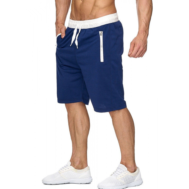 New Mens Shorts Run Jogging Sports Fitness Bodybuilding Sweatpants Male Workout Training Brand Knee Length Short Pant 6Color