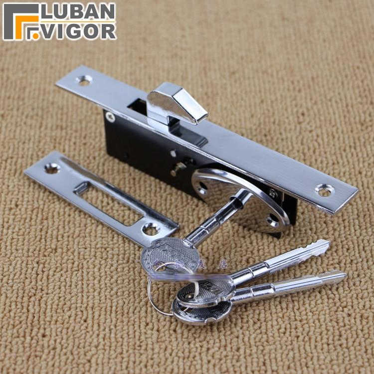 все цены на Aluminum alloy sliding door Hook lock, Stealth lock,For Wooden door,Framed glass door,Cross key, strong, durable,Door hardware онлайн