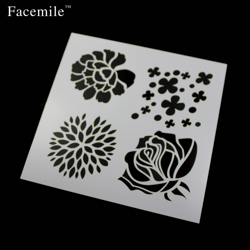 Nºde Decoration De Gateau Outils En Plastique Dessin Fleurs Moule