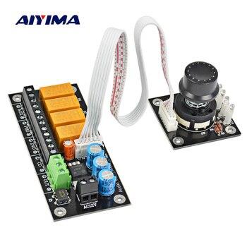 цена AIYIMA Audio Stereo Two Channel Relay 4 Way Sound Source Selection Audio Switch Input Selection Board онлайн в 2017 году