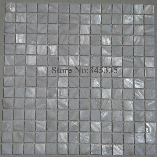 Weisses Quadrat Schale Mosaik Fliesen Perlmutt Kuche Back Fliesen