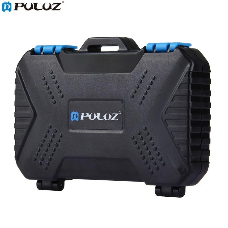 PULUZ PU5002 27 In 1 Waterproof Camera Memory Card Case For CF SD TF Card PIN SIM Micro-SIM  Cameras Accessories