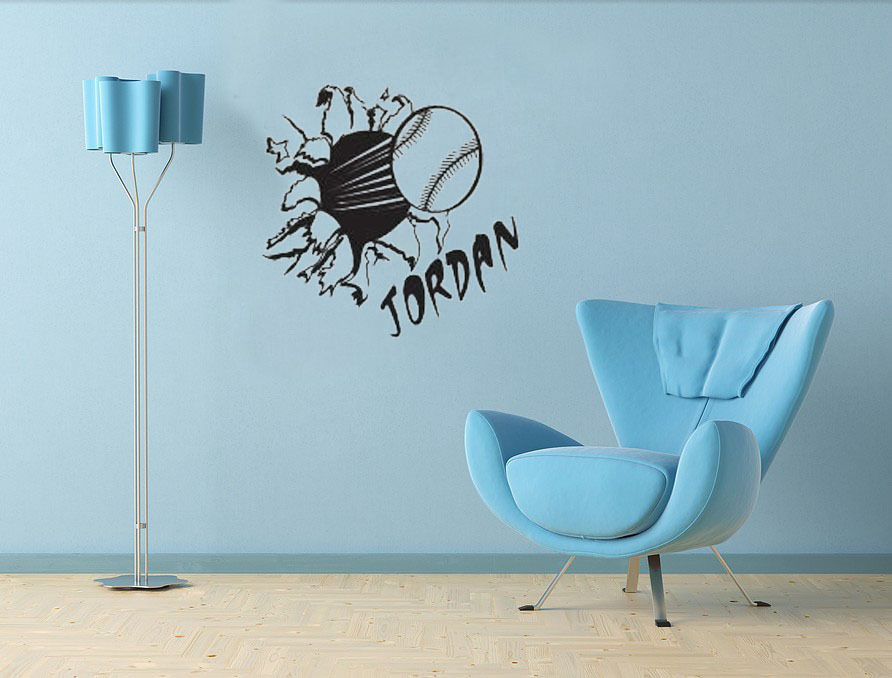 ... wall decals interior design; por softball decorations softball  decorations lots ...