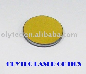 K9 laser reflective mirror diameter 25mm thickness 3mm, gold-plated, double-flat