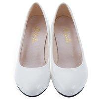 2016 Women White Shallow Mouth Pumps Wedding Shoes Elegant Ladies Fashion Low Heel Shoes OL Women