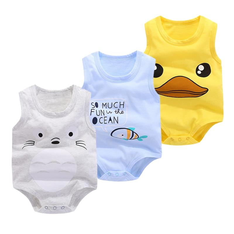 2018 Nieuwe Baby Mouwloze Vest Zomer Driehoek Pasgeboren Bodysuit - Babykleding - Foto 1