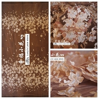 Orange Lace Fabric 3d Flowers Tulle Lace 1 Yard Good Quality Girls Dress Diy Sewing Embroidery