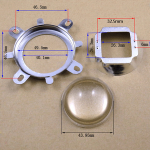 44mm 60/120 Degree Optical Glass Lens + 50mm Reflector Collimator + Fixed Bracket for 20-100W Integrated LED Light Source(China)