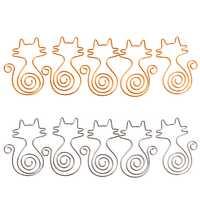 1 Juego 5 piezas lindo gato Clips de papel de Metal Pin libro marcapáginas notas Clip Oficina escuela papelería nuevo