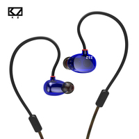 New KZ ZS2 In Ear Earphone Dual Driver Hifi Headphones Bass Noise Cancelling Stereo Headset Earbuds