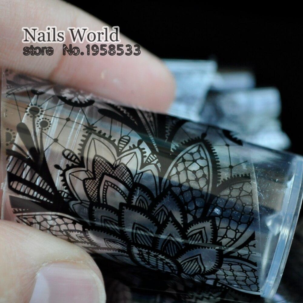 Nagel Folie in Klare Glas 1 meter Klassische Spitze stil nagelkunst ...