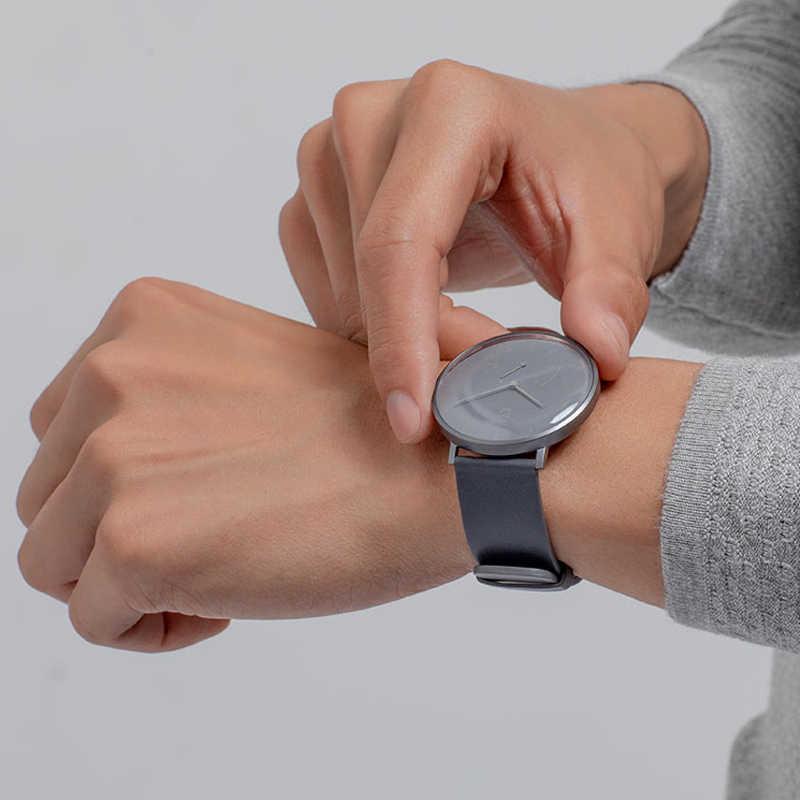 מקורי שיאו mi mi jia mi קוורץ חכם שעון גברים עור פשוט נשים עמיד למים Bluetooth ספורט Smartwatch האלקי-653