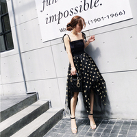 DoreenBow HIGH QUALITY Summer Sexy Club Style Stars Printed Asymmetry Cute Dress Fashion Separated Top Dress