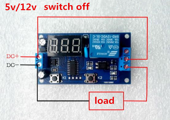 Delay Time Relay Module Timer relay 5v/ 12V LED Display Intelligent Control Time Relay/Delay for switching off