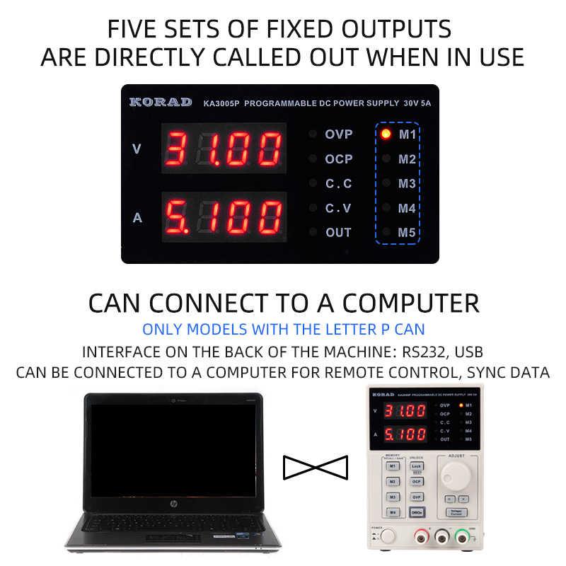 Regulowany cyfrowy liniowy zasilacz programowalny zasilacz impulsowy o wysokiej precyzji DC zasilacz prądu stałego termostat cyfrowy 60V2A