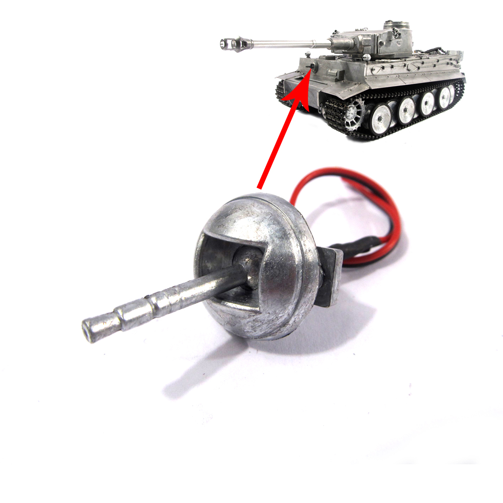 Mato metal machine gun with LED for 1/16 Tiger 1 tank