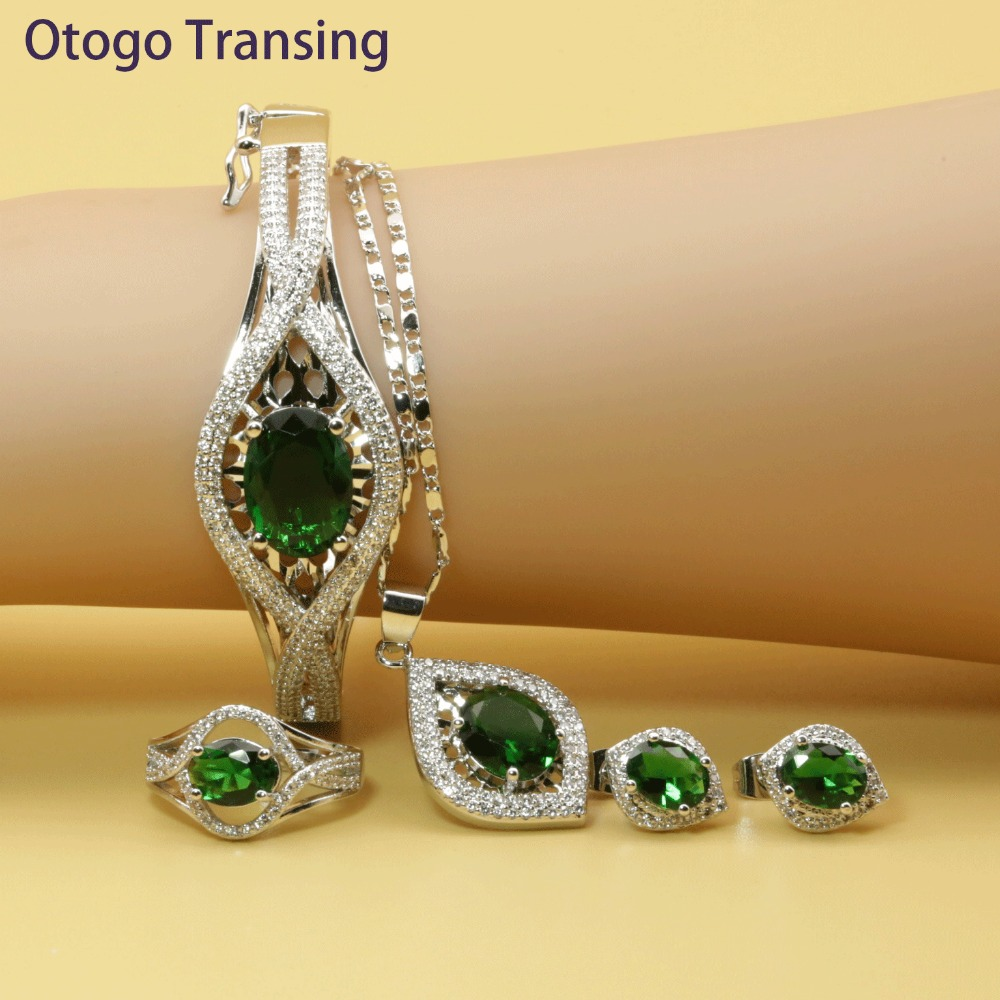 Otogo Transing Indian Fashion Love Jewelry Sets Mark