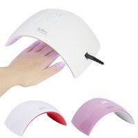 Portable Nail Dryer LED UV Light For Gel Nails Polish Dry Hand Finger Foo Nail Art