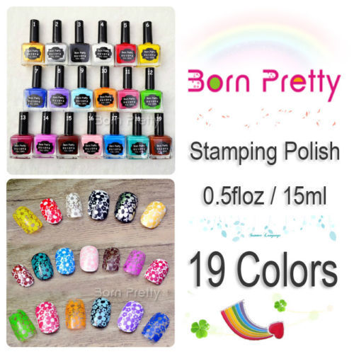 15ml Born Pretty Candy Colors Nail Art Stamp-Stamping Polish Sweet Style Nail Stamping Polish Print