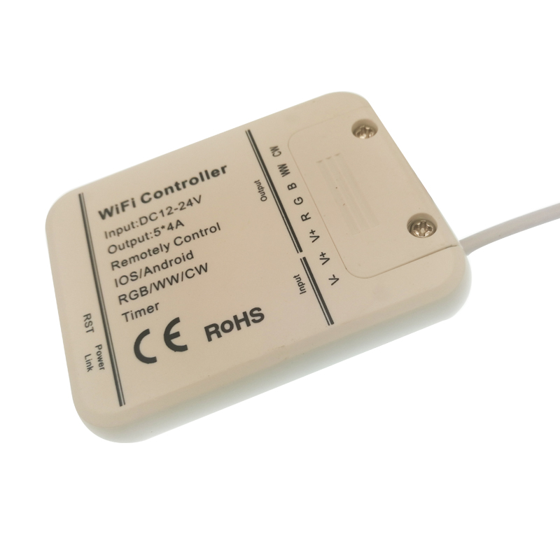 WI FI Светодиодные ленты 5 M RGB + W + WW DC12V Тира неоновая световая лента + WI FI контроллер + 5A адаптер питания - 6