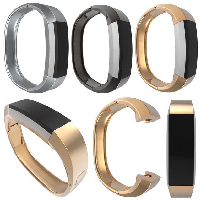 Reloj De metal de Acero inoxidable bandas correa pulseras Pulsera Accesorios correa de Reloj Pulsera de la astilla Para Fitbit Alta Alta calidad