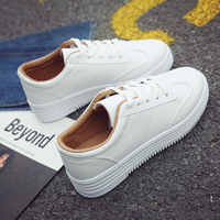 Zapatillas de deporte blancas de casuales de verano Zapatos mujer Zapatos de plataforma mujer altura creciente señoras transpirable punta redonda