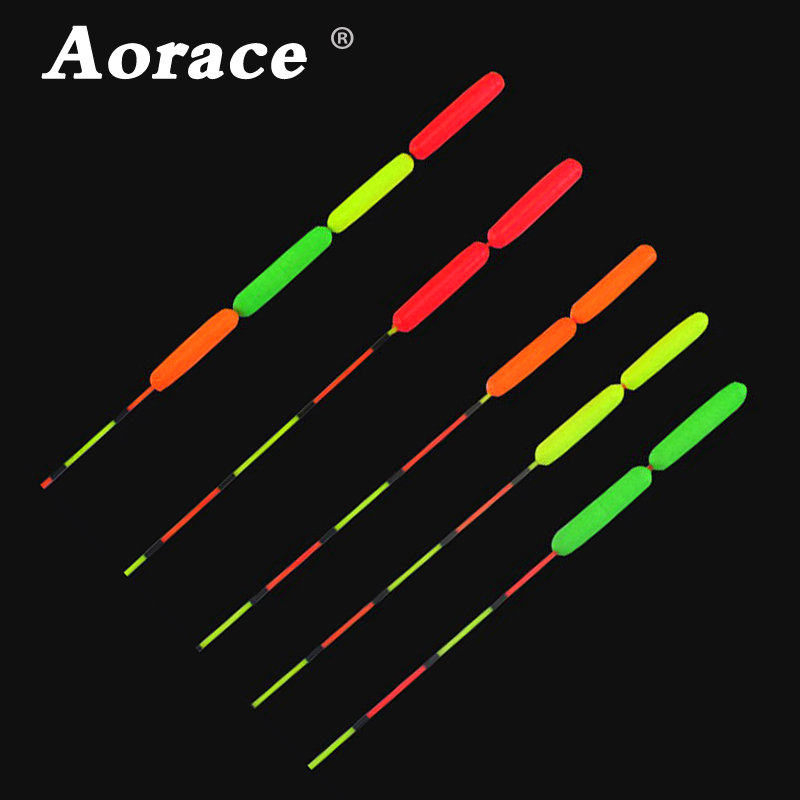 Aorace 10Pcs/pack Fishing Float Bobber Floating Foam Oval Indicator Fish Accessories Tackles