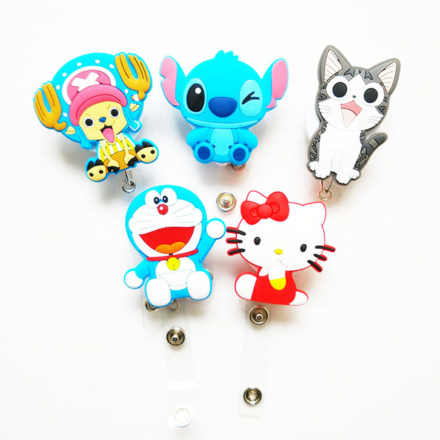 60cm Cartoon Silicone Retractable Reel for Bus Credit Card Holder PY023