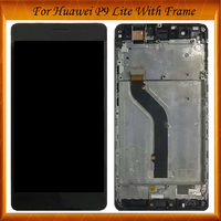 100% Working Well LCD Display For HUAWEI P9 Lite LCD Display Touch Screen for HUAWEI P9 Lite LCD Display Digitizer With Frame