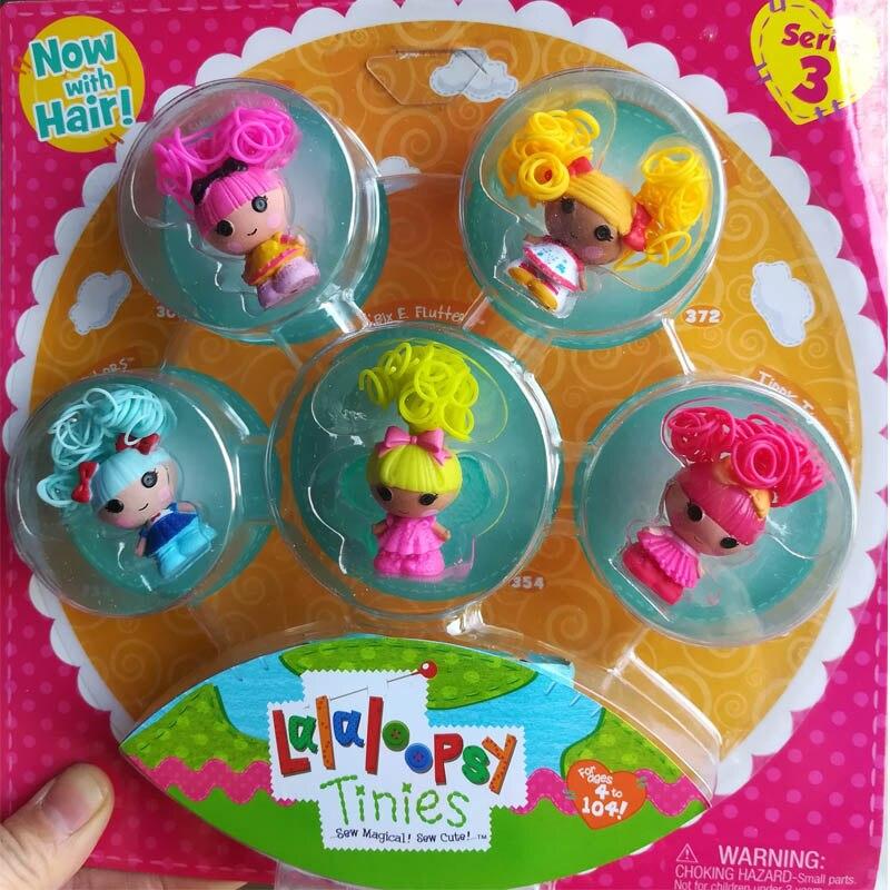 New! Mini Lalaloopsy dolls boxed princess dolls Girl's toys set Play house toys gifts