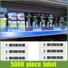 5000pcs/lot,supermarket security  tag with barcode eas 58khz soft label DHL/Fedex shipping