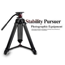 miliboo MTT601A Professional Portable Aluminium Camera Camcorder Tripod for Video /DSLR Camera Stand,with Hydraulic Head Ball цена и фото