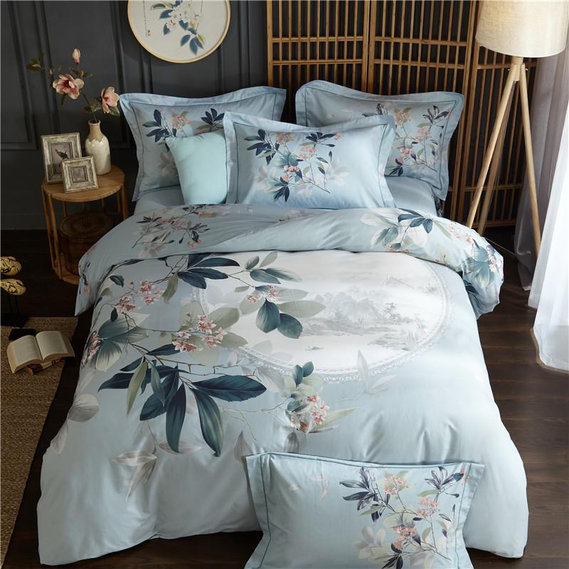 100%Cotton King Size Queen Bedding Set Duvet Cover Bed Sheet Fitted Sheet Bed Set Pillowcases Ropa De Cama Parure De Lit