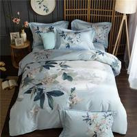 100% algodão rei tamanho da rainha conjunto de cama capa edredão folha lençol lençol conjunto fronhas ropa de cama parure de lit