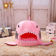 DannyKarl M/L Pet Beds For Soft Dog Cat Bed Cartoon Shark Mouse Shape Washable Dog House Pet Sleeping Bed With Removable Cushion все цены