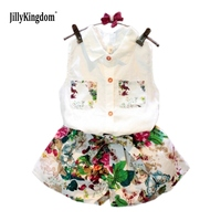 Jilly Kingdom Summer Style Girls Clothing Set Baby Girls Clothes Set Lovely Toddler Girl Tops Pants