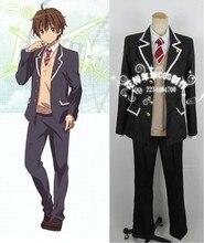 Chuunibyou demo koi ga shitai Cosplay Men School Uniform Togashi Yuta Cosplay Costume Coat+Shirt+Vest+Tie+Pants