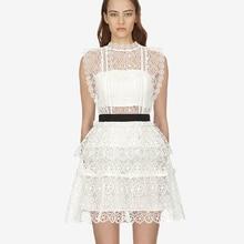fde96f5327233 Buy white layered ruffle dress and get free shipping on AliExpress.com