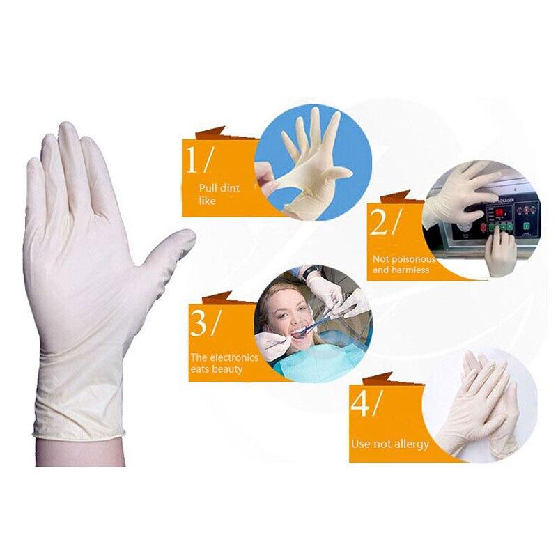 100 vnt ilgos vienkartinės nitrilo latekso medicininės pirštinės, - Sauga ir saugumas - Nuotrauka 6
