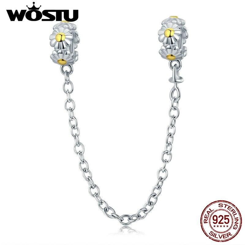 WOSTU Jewelry Making 925 Sterling Silver Fashion Daisy
