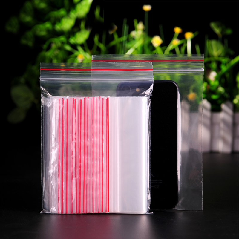 0 05 0 08 mm Zip Lock Grip Transparent Plastic Packaging Bag Food PE Grade Snack Candy Baking Self Reseal Storage Package in Gift Bags Wrapping Supplies from Home Garden