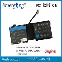 14.8 v 86wh nueva batería original del ordenador portátil para dell alienware m17x m18x r3 r5 17 18 18x 2f8k3 02f8k3