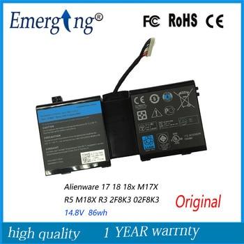 14.8V 86WH New  Original   Laptop Battery for DELL Alienware 17 18 18x M17X R5 M18X R3 2F8K3 02F8K3